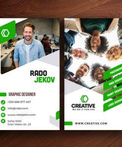business-cards-designer-green